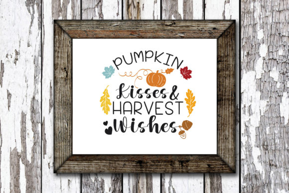 Print on Demand: Pumpkin Kissed and Harvest Wishes Graphic Crafts By KtwoP