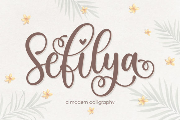 Print on Demand: Sefilya Script & Handwritten Font By Almeera Studio