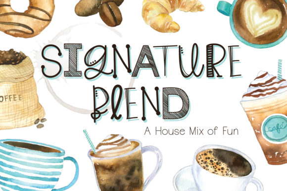 Print on Demand: Signature Blend Script & Handwritten Font By browncowcreatives