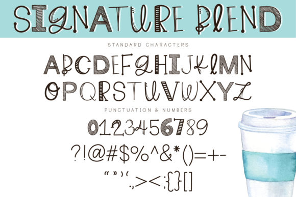 Print on Demand: Signature Blend Script & Handwritten Font By browncowcreatives - Image 2