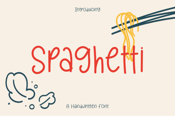 Print on Demand: Spaghetti Script & Handwritten Font By Wanida Toffy