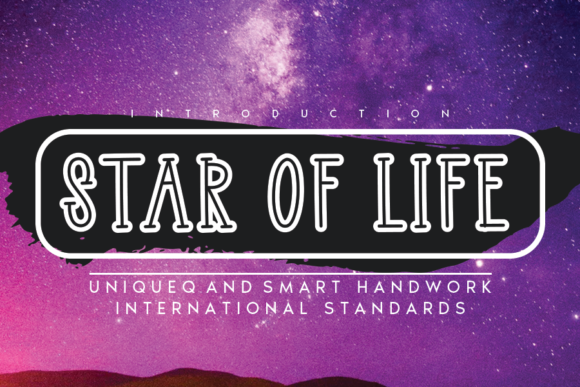 Print on Demand: Star of Life Display Font By andikastudio