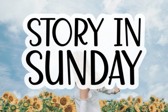 Print on Demand: Story in Sunday Manuscrita Fuente Por Keithzo (7NTypes)