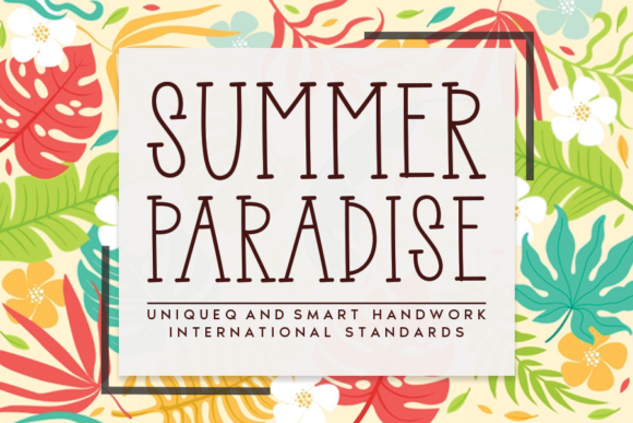 Print on Demand: Summer Paradise Serif Font By andikastudio