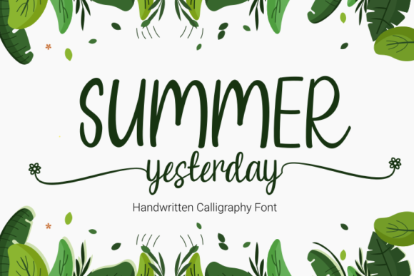 Print on Demand: Summer Yesterday Script & Handwritten Font By Rvandtype