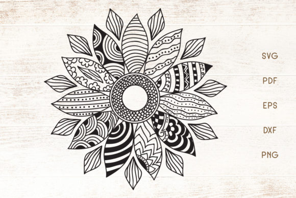 Print on Demand: Sunflower Doodle Art - Zentangle   Graphic Crafts By Dasagani
