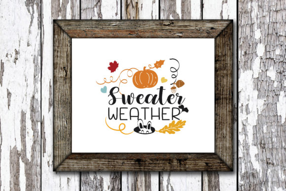 Print on Demand: Sweather Weather Graphic Crafts By KtwoP