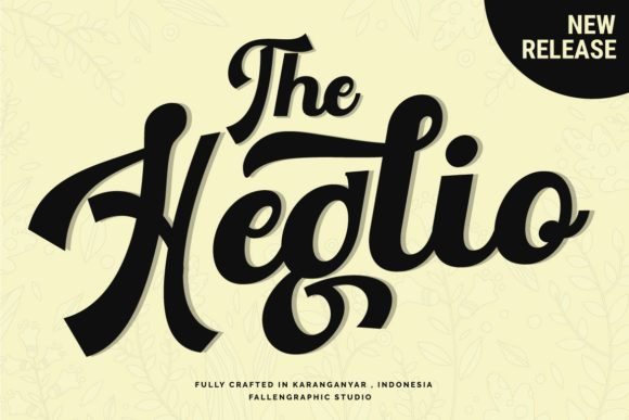 Print on Demand: The Heglio Script & Handwritten Font By Fallengraphic