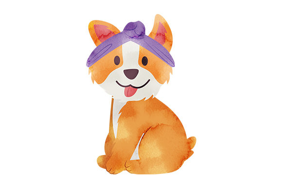 Corgi with Headband Dogs Craft Cut File By Creative Fabrica Crafts