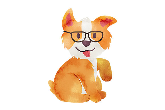 Corgi with Glasses Hunde Plotterdatei von Creative Fabrica Crafts