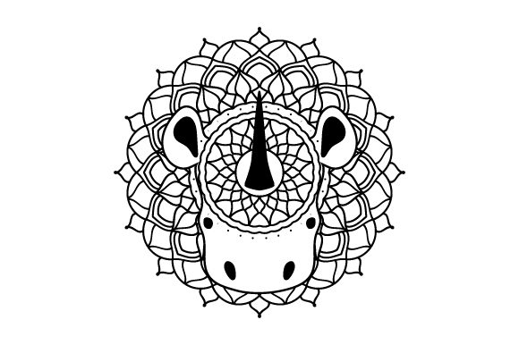 Rhino Mandala Mandalas Craft Cut File By Creative Fabrica Crafts