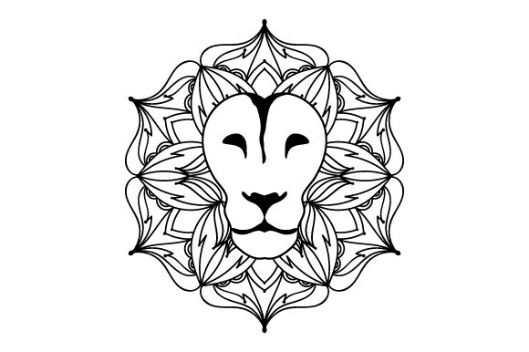 Lion Mandala Mandalas Craft Cut File By Creative Fabrica Crafts