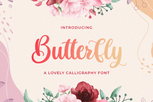 Print on Demand: Butterfly Script & Handwritten Font By StringLabs