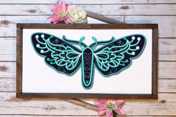 Print on Demand: 3D Zentangle Dragonfly | 3D Papercut   Graphic 3D SVG By tatiana.cociorva - Image 2