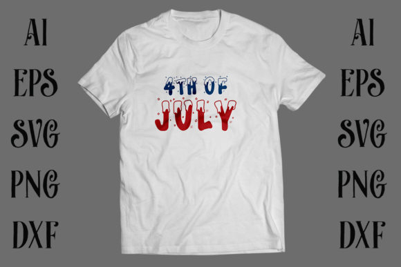 4th of July Independence Day T-shirt Graphic Print Templates By Storm Brain