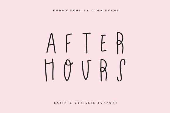 Print on Demand: After Hours Script & Handwritten Font By Dmitrii Chirkov