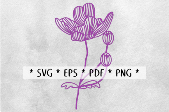 Print on Demand: Anemone Flower Stem Papercut Graphic 3D Flowers By Nic Squirrell