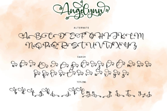 Print on Demand: Angelinn Script & Handwritten Font By thomasaradea - Image 12