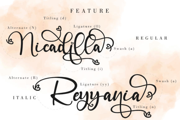 Print on Demand: Angelinn Script & Handwritten Font By thomasaradea - Image 9