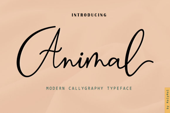 Print on Demand: Animal Script & Handwritten Font By Moly Mol