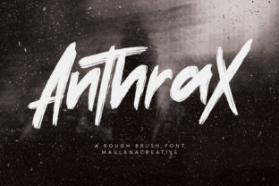 Print on Demand: Anthrax Display Font By Maulana Creative