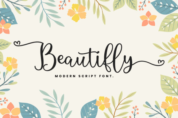 Print on Demand: Beautifly Script & Handwritten Font By Sizimon
