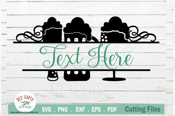 Beer Monogram Frame Decal Graphic Crafts By redearth and gumtrees