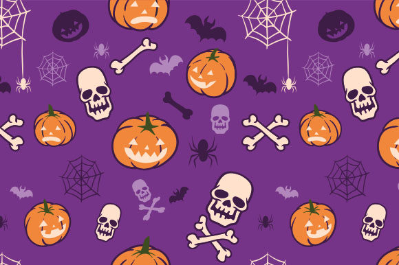 Boo Pumpkins Halloween Fun Pattern Graphic Patterns By alaikazizi