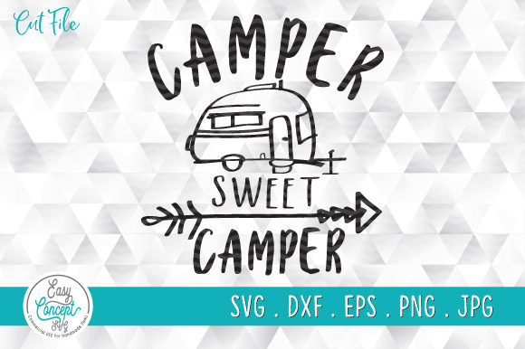 Camper Sweet Camper  Graphic Crafts By EasyConceptSvg