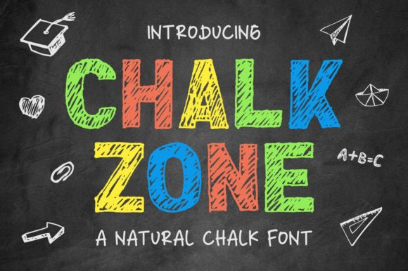 Print on Demand: Chalk Zone Display Font By goodjavastudio