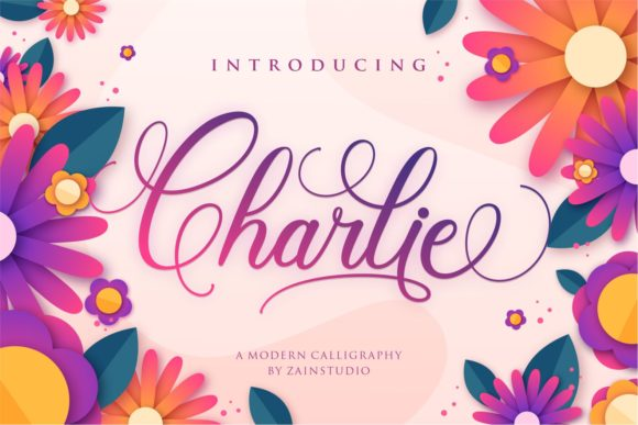 Print on Demand: Charlie Script & Handwritten Font By zainstudio