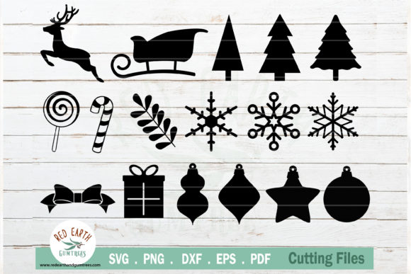 Christmas Elements Bundle Graphic Crafts By redearth and gumtrees