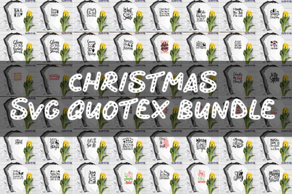 Print on Demand: Christmas Quotes Bundle Graphic Print Templates By SVG_Huge