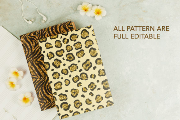 Collection of Glitter Animal Prints Graphic Design