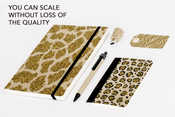 Collection of Glitter Animal Prints Graphic Design Item