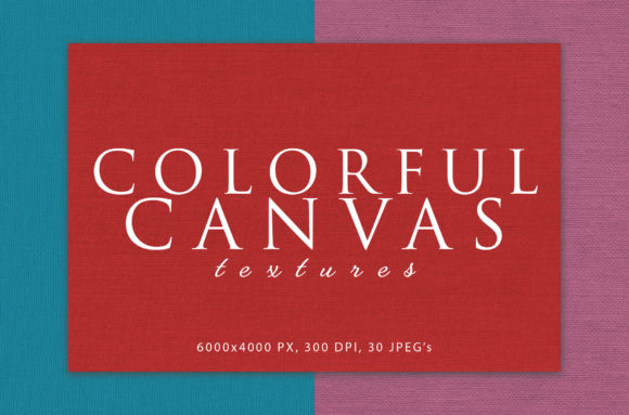 Print on Demand: Colorful Canvas Textures Graphic Textures By ArtistMef