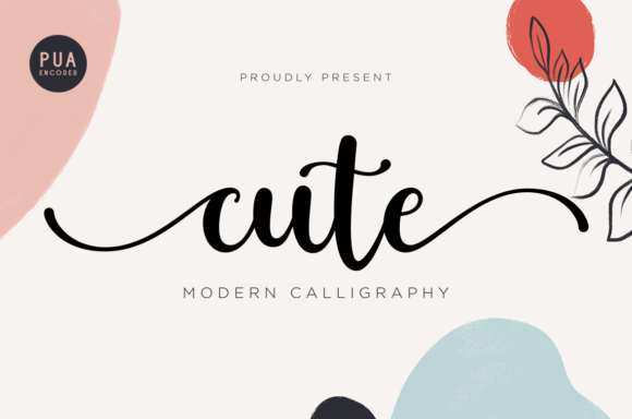 Print on Demand: Cute Script & Handwritten Font By nailetter