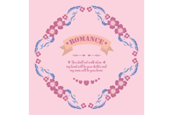 Elegant Romance Greeting Card Design Graphic Backgrounds By stockfloral