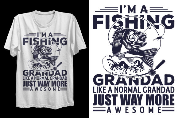 Print on Demand: Fishing T-Shirt Design Graphic Print Templates By Graphicflow