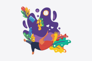 Print on Demand: Flat Illustration Relaxation Graphic Illustrations By MAMD