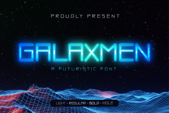 Print on Demand: Galaxmen Display Font By gilztype