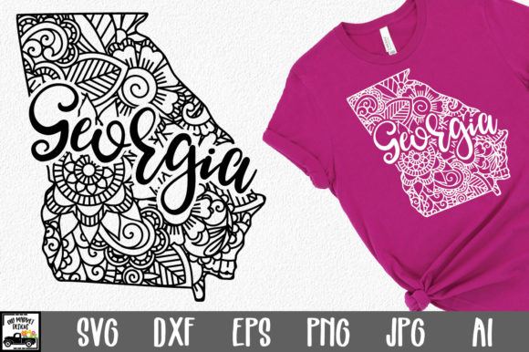 Print on Demand: Georgia State Mandala Graphic Crafts By oldmarketdesigns