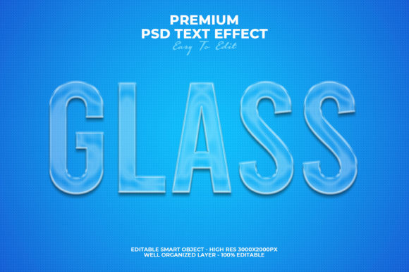 Glass Text Style Effect Graphic Layer Styles By Evloxx