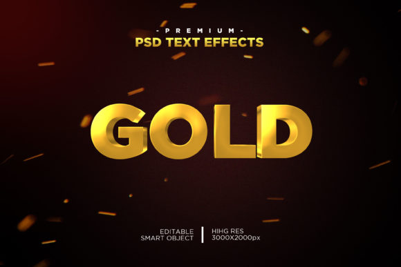 Gold Text Style Effect Graphic Layer Styles By Evloxx