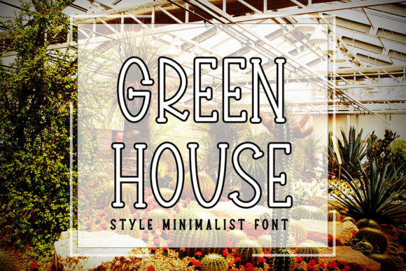 Print on Demand: Green House Serif Schriftarten von K_IN Studio
