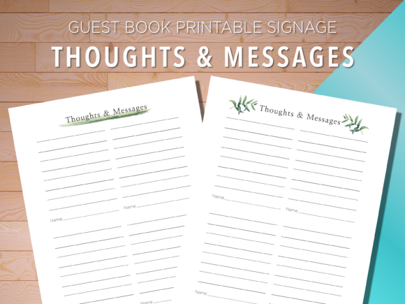 Print on Demand: Guest Book Printable Signage Graphic Print Templates By AscendPrints