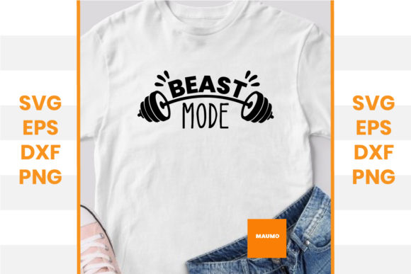Print on Demand: Gym | Beast Mode Graphic Crafts By Maumo Designs