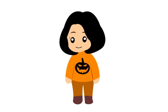 Halloween Chibi Character Vector 2 Graphic Illustrations By harunikaart