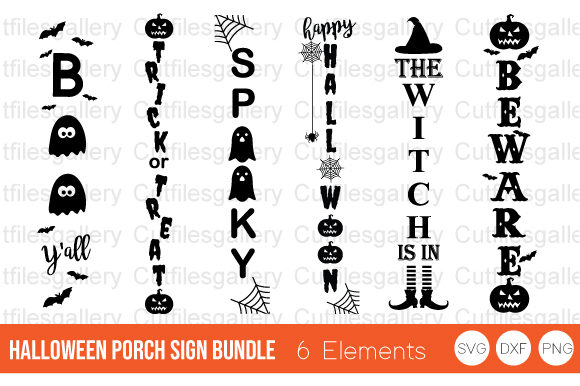 Halloween Porch Sign Bundle   Graphic Crafts By cutfilesgallery