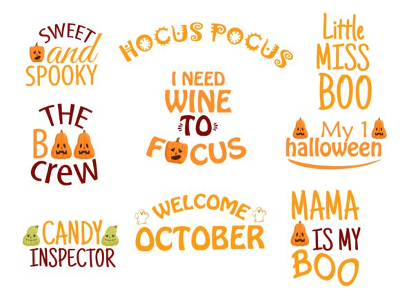 Halloween Quotes Bundle Graphic Illustrations By studioluckee